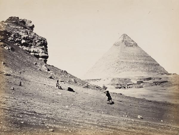 'The Second Pyramid from the South East'. (1858 (engraved 1857 on page))