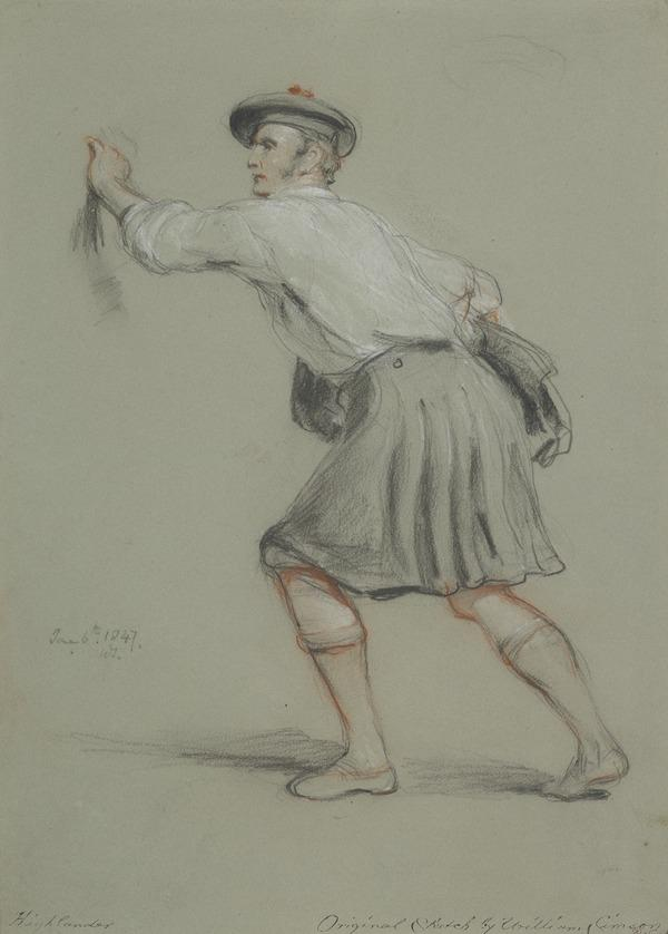 Study of a Kilted Highlander (Dated June 6th 1847)