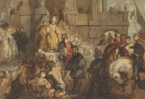 The Conversion of Saint Bavo. Copy after the Painting by Sir Peter Paul Rubens