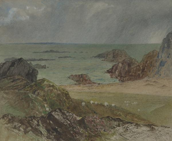 Study for the Painting 'Port na Curachan, Iona' (1886)