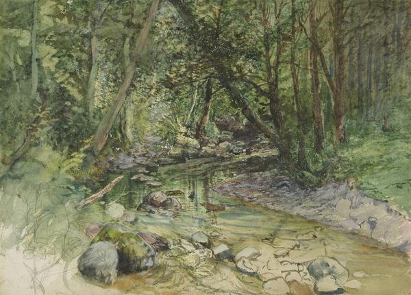 Penwhapple Stream near Penkill Castle (1865)