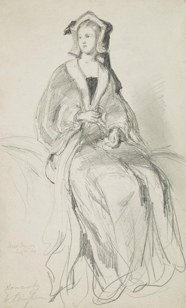 Seated Lady with a Bonnet (Dated July 14th 1841)