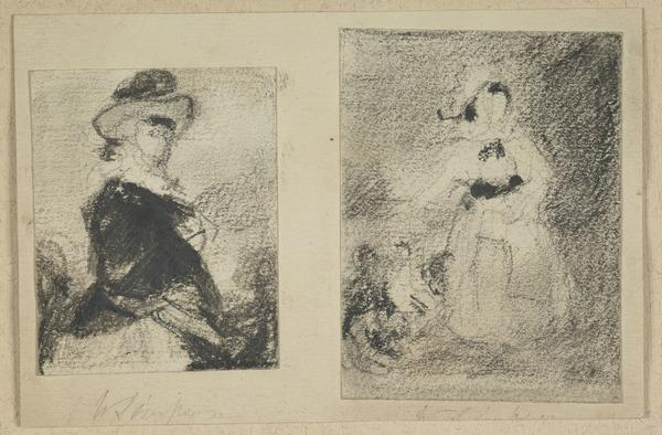 Copies from Reynolds 1. 'Mrs Meyrick' (Miss Keppel) at Oxford, 2. 'Lady Catherine Pelham Clinton' at Longford Castle