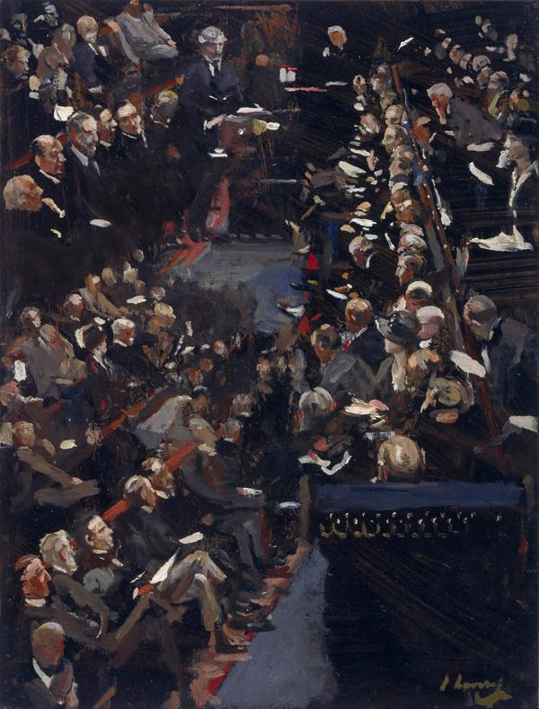 Study for 'The House of Commons - Ramsay Macdonald addressing the House' (1924)
