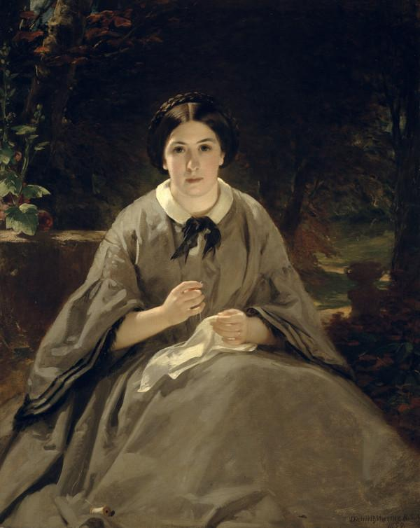 A Lady in Grey (Dated 1859)