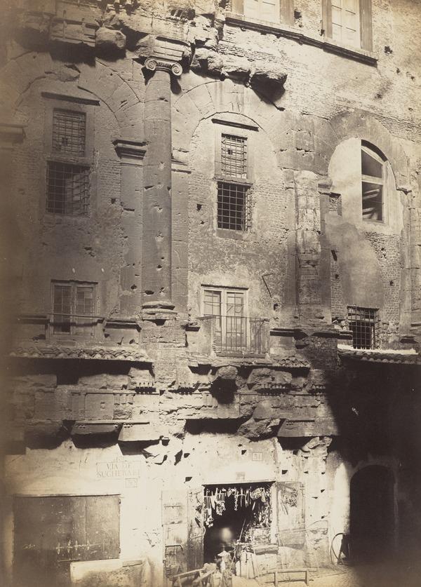 Via de Sugherari, the Theatre of Marcellus, Rome (About 1860)