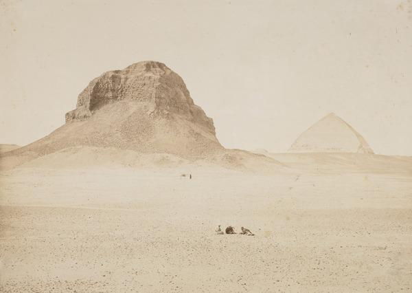 'The Pyramids of Dahshoor from the East'. (1857)