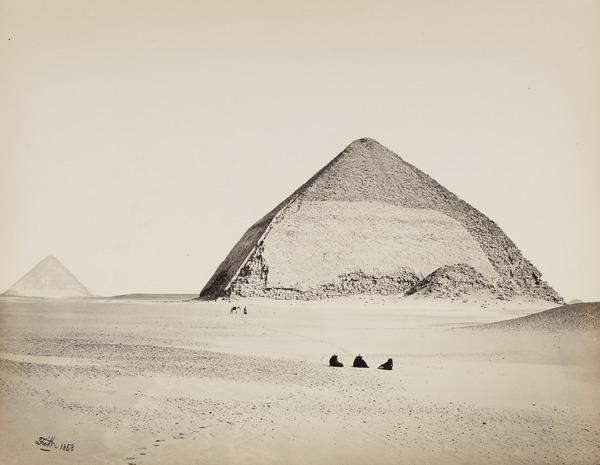 'The Pyramids of Dahshoor from the South'. (1858  (1857 engraved on page))