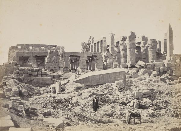 'The Temple of El-Karnak from the South East'. (1857)