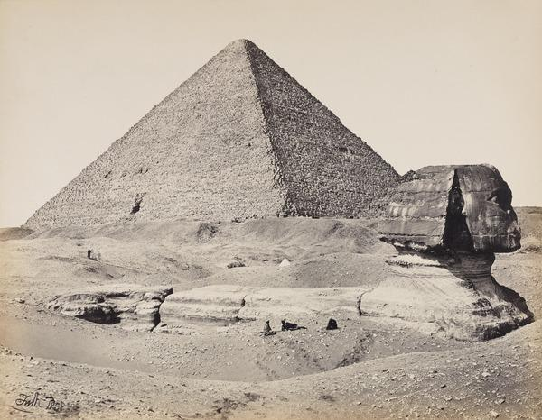 The Great Pyramid and the Sphinx (1858)