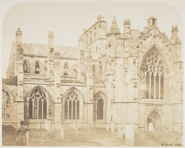 Melrose Abbey from the South West (1856)