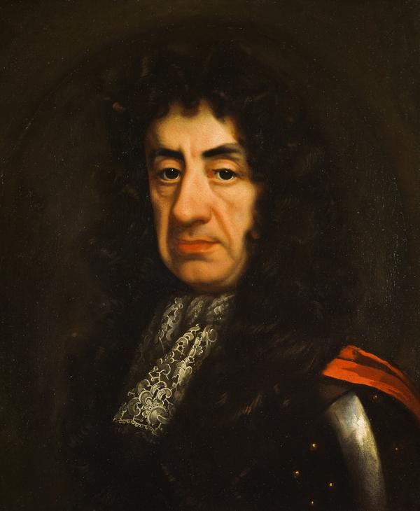 Charles II, 1630 - 1685. King of Scots 1649 - 1685, King of England and Ireland, 1660 - 1685 (About 1681)
