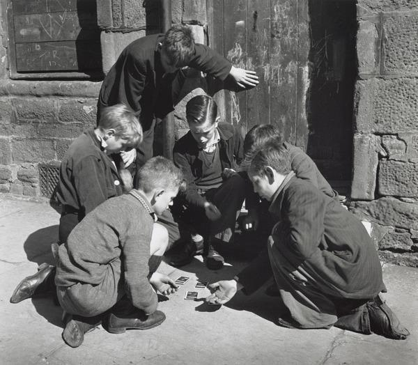 Boys Playing Cards, Dundee (1944)