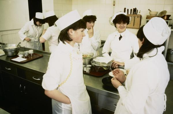 Untitled: School Cookery Class