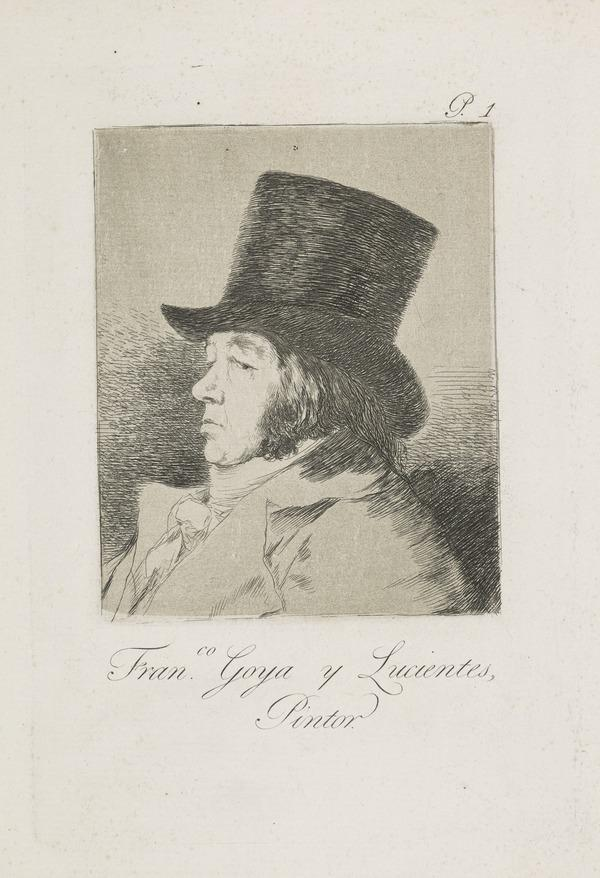 Francisco Goya Y Lucientes (Self-Portrait), Plate 1 of Los Caprichos (1797)