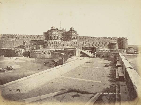 'The Fort, Delhi Gate, Agra'.