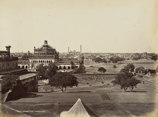 'General view from Fort, Lucknow'.