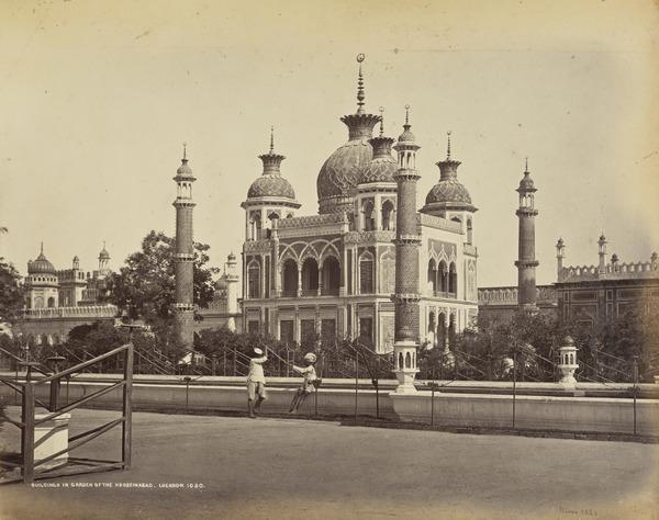 'Buildings in the Garden of the Hooseinbad, Lucknow'.