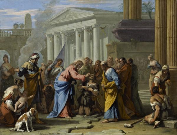 Christ Healing the Blind Man (About 1712 - 1716)