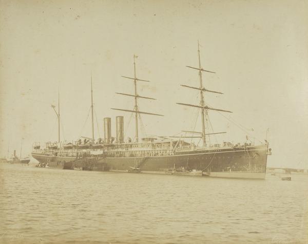 """'P & O  S.S. """"Oceana"""", steam ship."""