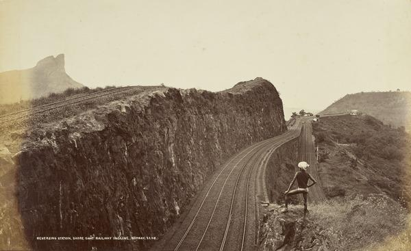 'Reversing Station, Ghore Ghat Railway Incline, Bombay'.