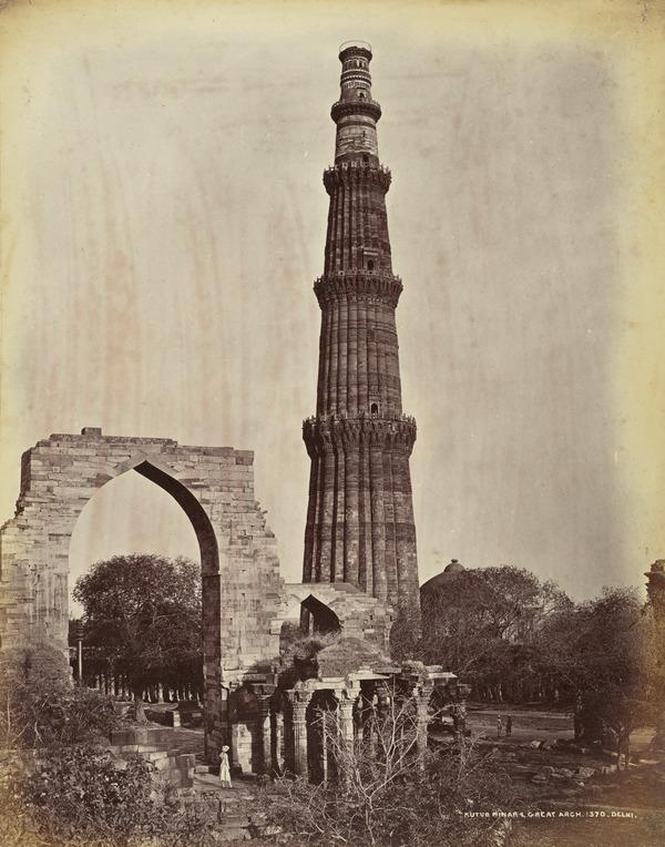'Kutub Minar & Great Arch, Delhi'.