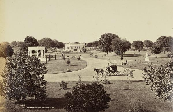'In Wingfield Park, Lucknow'.