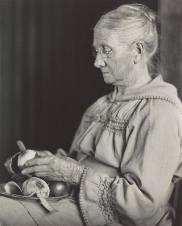 My Mother Peeling Apples (About 1910)