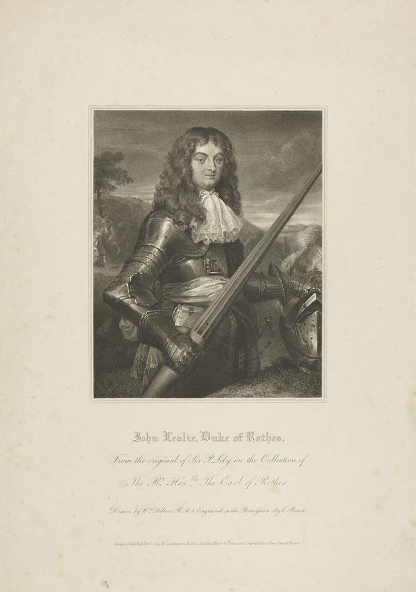 John Leslie, 7th Earl and 1st Duke of Rothes, 1630 - 1681. Lord Chancellor (Published 1819)