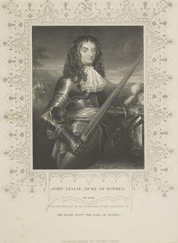John Leslie, 7th Earl and 1st Duke of Rothes, 1630 - 1681. Lord Chancellor