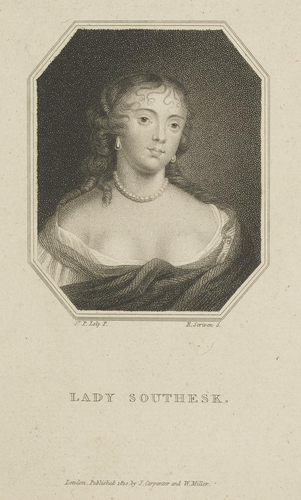 Anna Hamilton, Countess of Southesk, d. 1695. Wife of R. Carnegie, 3rd Earl of Southesk (Published 1810)