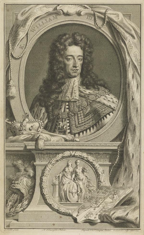 William III, 1650 - 1702. Reigned 1688 - 1702