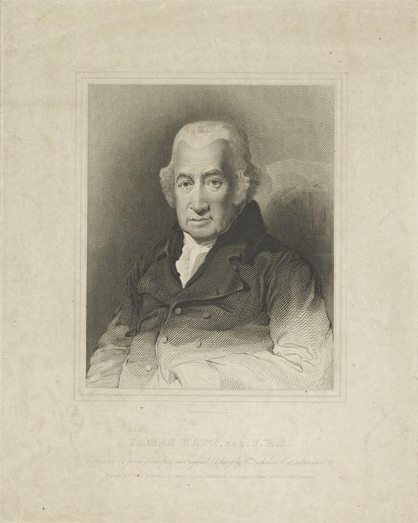 James Watt, 1736 - 1819. Engineer; inventor of the steam engine (Published 1819)