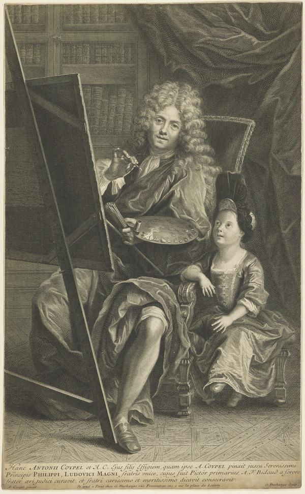 Antoine Coypel, 1661 - 1722. French painter (with his son)