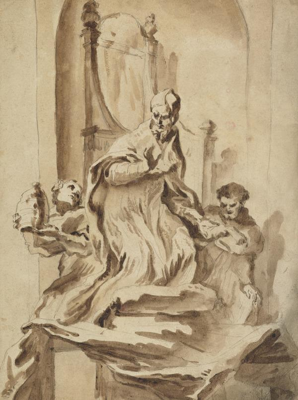 Design for a Papal Tomb Monument. Copy after Bernini (see D 5429)