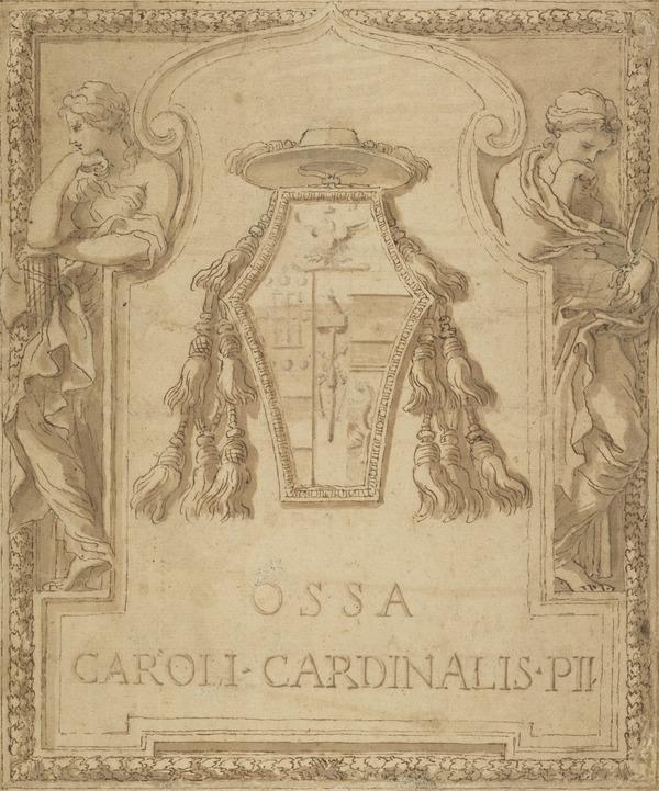 Design for the Tomb Slab of Cardinal Carlo Emanuele Pio da Carpi (1568 - 1641) (About 1649)