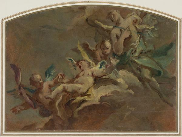 Floating Putti (perhaps 1750s)