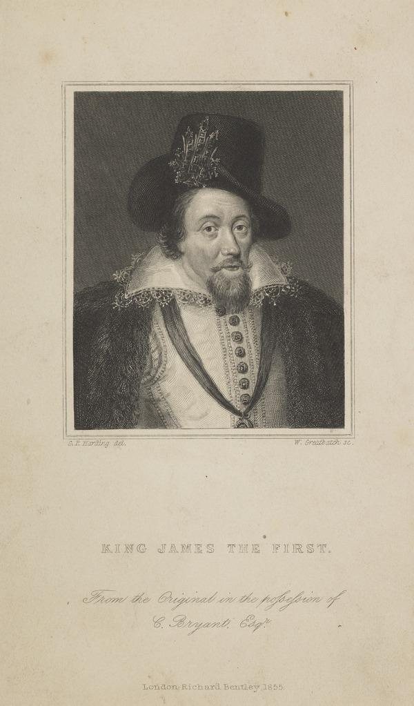 James VI and I, 1566 - 1625. King of Scotland 1567 - 1625. King of England and Ireland (Published 1855)